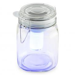 Wetterfrosch LED-Stimmungslicht gelb/blau Einweckglas Solar Akku