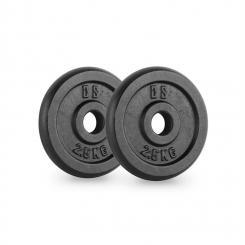 IPB 2.5 Hantelscheiben Paar 30 mm 2,5 kg schwarz 2x 2.5 kg