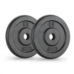 IPB 5 Hantelscheiben Paar 30 mm 5 kg schwarz 2x 5 kg