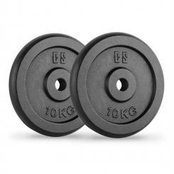 IPB 10 Hantelscheiben Paar 30 mm 10 kg schwarz 2x 10 kg