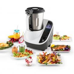 Food Circus Küchenmaschine Dampfgarer 10 Programme 500/1100 W weiß Weiß