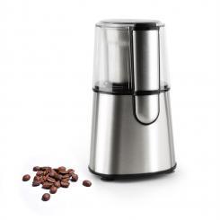 Speedpresso Kaffeemühle 200W 65g Schlagmahlwerk Edelstahl silber
