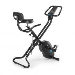 Azura X1 X-Bike bis 120 kg Pulsmesser klappbar 4 kg schwarz Schwarz