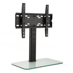 TV-Ständer Größe M Höhe 60 cm höhenverstellbar 23-47 Zoll Glasfuß 23-47 Zoll Glasfuß