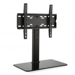 TV-Ständer Größe M Höhe 60 cm höhenverstellbar 23-47 Zoll Glasfuß schwarz 23-47 Zoll Glasfuß / schwarz