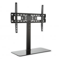 TV-Ständer Größe L Höhe 75 cm höhenverstellbar 23-55 Zoll Glasfuß schwarz 23-55 Zoll Glasfuß / schwarz