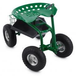 Waldbeck Park Ranger Gartensitz 130 kg fahrbar Ablage Stahl grün