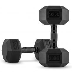 Hexbell Dumbbell Kurzhantel Paar 2 x 30 kg 2x 30 kg