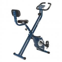 Azura CF X-Bike Heimtrainer bis 100 kg Pulsmesser klappbar 3 kg blau