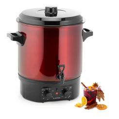 Biggie Einkochautomat Edelstahl 27 Liter 2000W Timer rot 27 Ltr / analog / rot