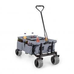 Greyjoy Bollerwagen mit faltbarem Rahmen und integrierter Kühltasche Grau