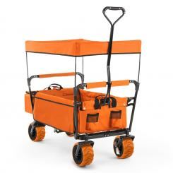The Orange Supreme Bollerwagen Handwagen faltbar 68kg Sonnendach Orange