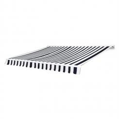 Capri-Mood Kassettenmarkise 4x3m 280g/m² Acryl Schwarz/Weiß