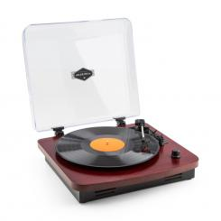 TT370 Retro-Plattenspieler integrierte Lautsprecher USB MP3 AUX Kirsche Kirschbaum