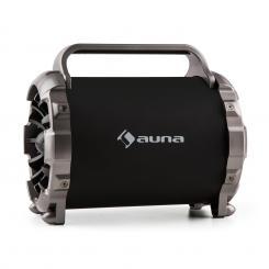 """Blaster M tragbarer Bluetooth-Lautsprecher LED-Lichteffekt AUX SD USB UKW 2x 16,5 cm (6,5"""")"""