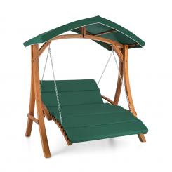 Aruba Hollywoodschaukel Gartenschaukel 130 cm 2-Sitzer Massivholz Grün