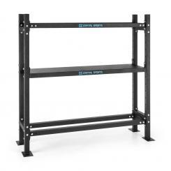 Traytor A Storage Rack Gewichtsregal 3 Ebenen Stahl schwarz 1x geschlossene Ebene