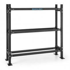 Traytor B Storage Rack Gewichtsregal 3 Ebenen Stahl schwarz 3x offen Ebene