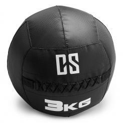Bravor Wall Ball Medizinball PVC doppelte Nähte 3kg schwarz