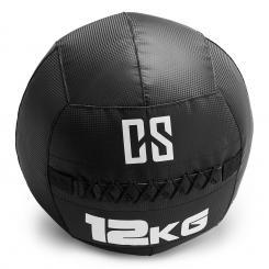 Bravor Wall Ball Medizinball PVC doppelte Nähte 12kg schwarz