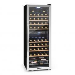 Vinamour 54D Weinkühlschrank 2 Zonen 148 l 54 Flaschen Edelstahlfront 54 Flaschen | 2 Kühlzonen