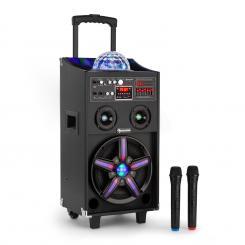 DisGo Box 100 mobiler Dj-Lautsprecher mit Discolicht 100W RMS Bluetooth USB