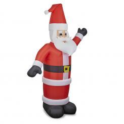 Santa XXL aufblasbarer Weihnachtsmann 350cm Gebläse 6 LED beleuchtet