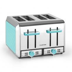 Curacao Azur Toaster 4 Scheiben Edelstahl 1500 Watt blau