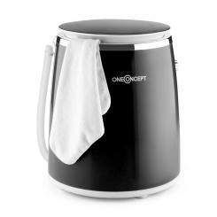 Ecowash-Pico Mini-Waschmaschine Schleuderfunktion 3,5 kg 380W schwarz Schwarz