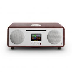 Two - 2.1 Design Internet-Radio mit CD 30W Bluetooth Spotify Connect Wenge Mahagoni