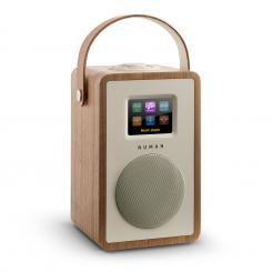 Mini Two Design-Internetradio WiFi DLNA Bluetooth DAB/DAB+ UKW Walnuss Walnuss | Ohne Akku