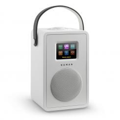Mini Two Design-Internetradio WiFi DLNA Bluetooth DAB/DAB+ UKW Weiss Weiß | Ohne Akku