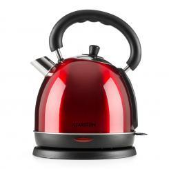 Teatime Wasserkocher Teekessel | 1850 - 2200 W | Fassungsvermögen:  1,8 l | Cool-Touch-Griff | rostfreier Edelstahl Rot