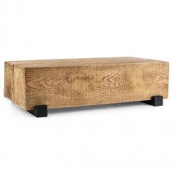 Blockhouse Lounge Balkentisch Gartentisch Timber-Table 120x30x60 cm