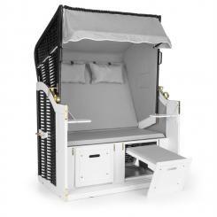 Hiddensee Strandkorb XL 2-Sitzer Volllieger grau Grau