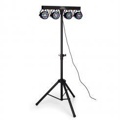 DJLIGHT80LED Lichtstativ mit 4x 1W RGBW-LED PAR-Strahlern