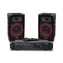 """DJ150 Disco Sound Set PA-Verstärker 19"""" 2 x Lautsprecher 150W"""