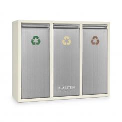 Ordnungshüter 3 Mülleimer Mülltrenner 45L (3 x 15 L) cremebeige 45_ltr