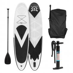 Spreestar aufblasbares Paddelboard SUP-Board-Set 300x10x71 schwarz-weiß Schwarz