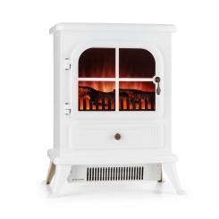 St. Moritz Elektrischer Kamin 1850 W Flammenillusion rauchfrei weiß Weiß