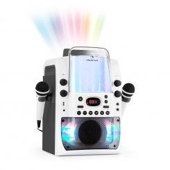 Kara Liquida BT Karaoke-Anlage Lichtshow Wasserfontäne Bluetooth weiß/grau Grau