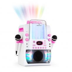 Kara Liquida BT Karaoke-Anlage Lichtshow Wasserfontäne Bluetooth weiß/pink Pink