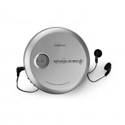 CDC 100 MP3 Discman CD-Player CD-R/-RW/-MP3 tragbar Antishock ESP Micro-USB Silber