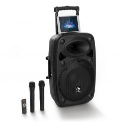 """Streetstar 15 Mobile PA-Anlage 15"""" Subwoofer Trolley BT USB/SD/MP3 UKW AUX 1000_W_max"""