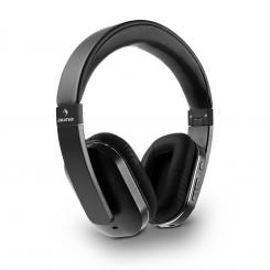 Elegance Bluetooth-NFC-Kopfhörer aptX Akku Freisprech Kunstleder schwarz Schwarz