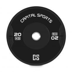 Elongate Bumper Plate Gewichtsplatte Gummi 20kg 20 kg