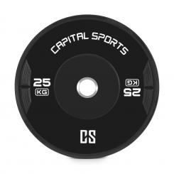 Elongate Bumper Plate Gewichtsplatte Gummi 25kg 25 kg