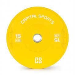 Nipton Bumper Plate Gewichtsplatte | 1 x 15kg | Hartgummi Gelb | 15 kg