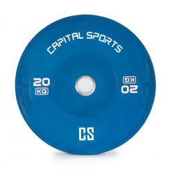 Nipton Bumper Plate Gewichtsplatte | 1 x 20 kg | Hartgummi Blau | 20 kg