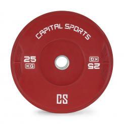 Nipton Bumper Plate Gewichtsplatte | 1 x 25 kg | Hartgummi Rot | 25 kg